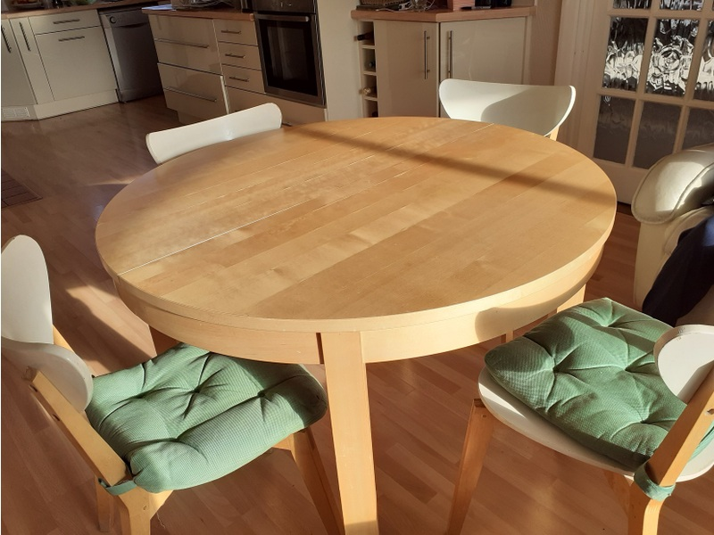 Light Oak Dining Table Ikea Bjorna Extendable 14 99 Picclick Uk Newest Oldest Price Ascending Descending Relevance