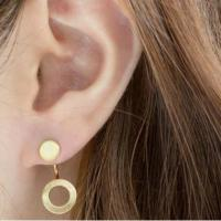 Small Flat And Open Big Hole Earrings on Luulla