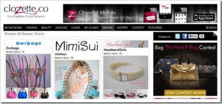 bazaar page