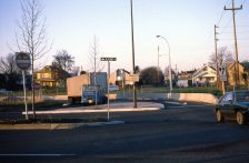 Truck negotiating Kerby Exit. February 1981