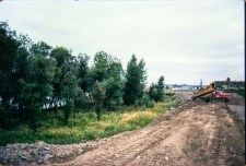 Land cleared and regraded for building, May 1977
