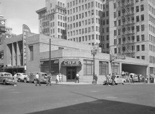Portland bus station. 1939