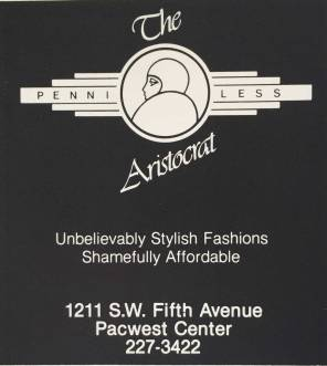 1988 Penniless Aristocrat ad