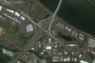 Airport Way westbound to I-205 N. slip ramp added. April, 2015