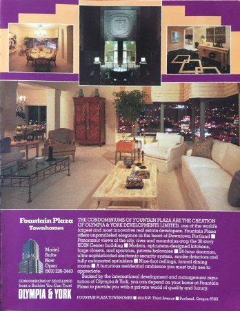 Ad for the KOIN Tower condo Fountain Plaza, though I have never heard it refered to as such. 1988