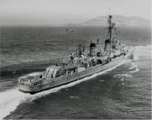DD-876, July 3 1957, near point Loma, San Diego. Photo: US Navy