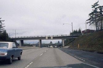I-5 North near SW Spring Garden St. overpass. 1974