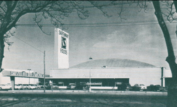 This Safeway in Walnut Creek typafied the staid, barrel roof designs prior to Marina and similar across the industry.