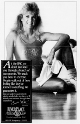 Ad for Riverplace Athletic Club. Portland, OR. 1987