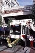 Eastside MAX opening celebration. Photo: Boothe Transit, 1986