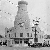Stigerwald Milk bottle at 37th and Sandy Blvd., Portland, OR. c.1926