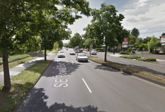 SE Powell Blvd near 64th Ave, Portland, OR. Photo: Google, 2014