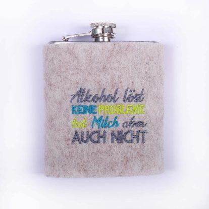 Flachmann Hülle Wollfilz