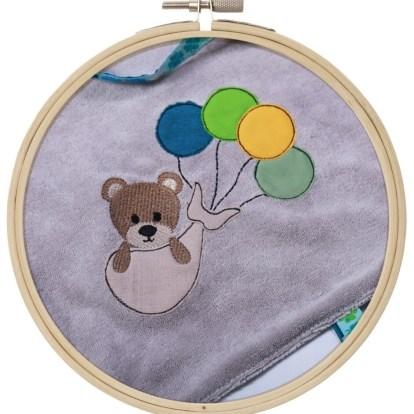 Teddybär Ballon Stickdatei Sticken