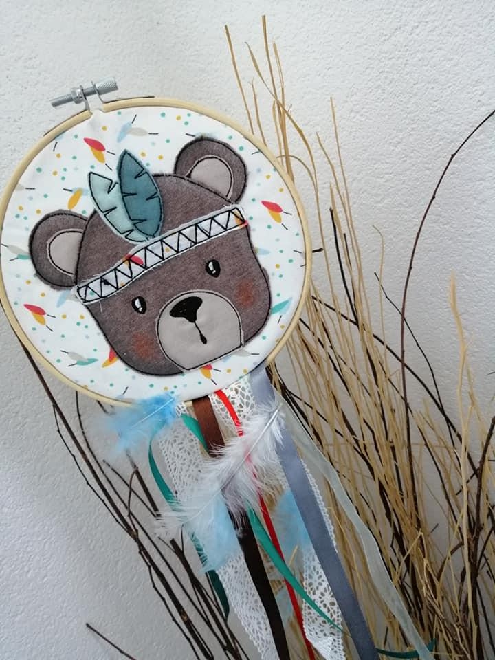 Wild Bear Stickdatei Doodle