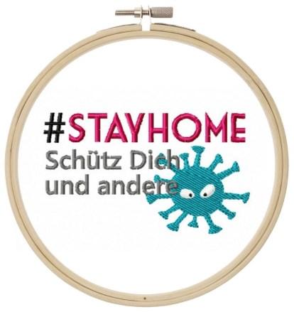 Stay Home Stickdatei Freebie