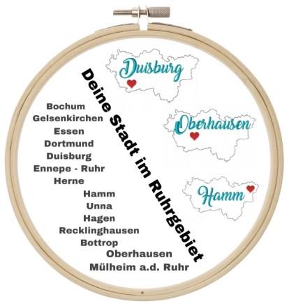 Stickdatei Doodle Ruhrgebiet