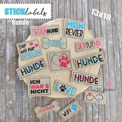 Stick Label Hunde