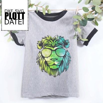 Plotterdatei Crazy Lion