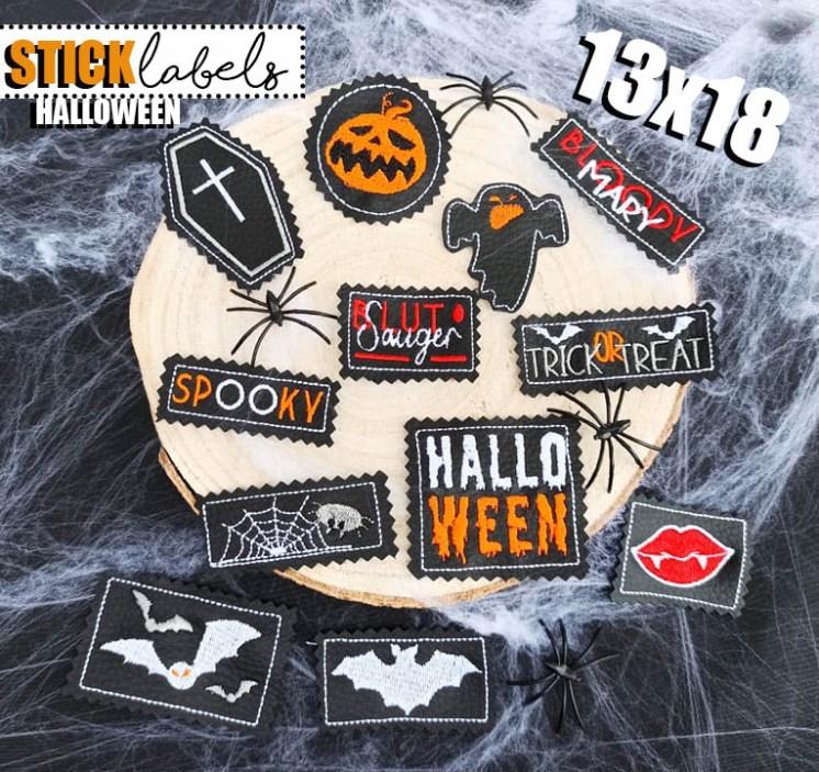 Stick Label Halloween 13x18