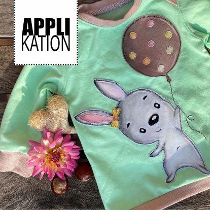 Applikation Ballon Hase