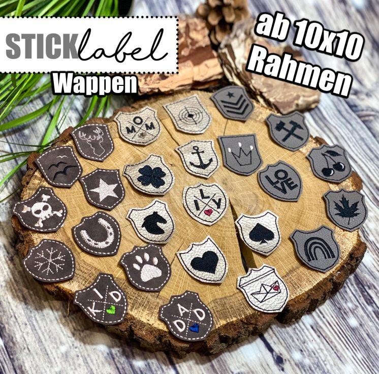 Wappen Stick Labels Stickdatei