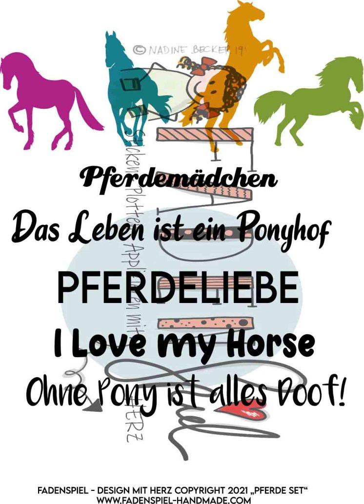 Pferde mit Sprüche