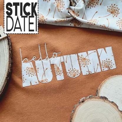 Statement Autumn Stickdatei