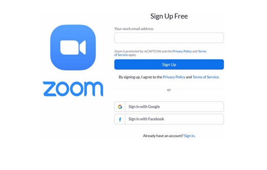 Zoom Free Sign up