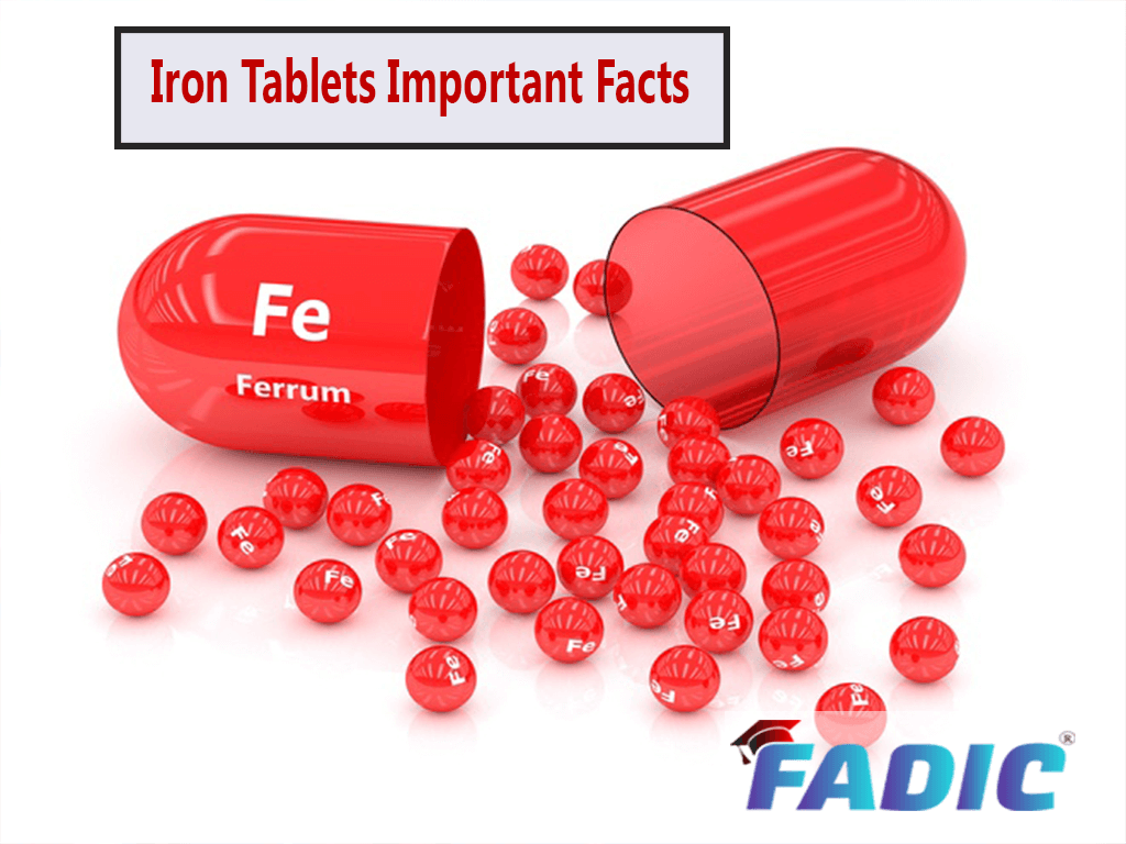 The 3 Important Facts you should Know about Iron Tablets