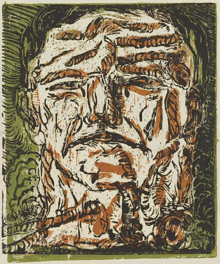 Georg Baselitz, Großer Kopf (Large Head), 1966