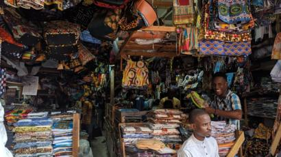 L'un des nombreux stands de la fabrique artisanal de Sandaga