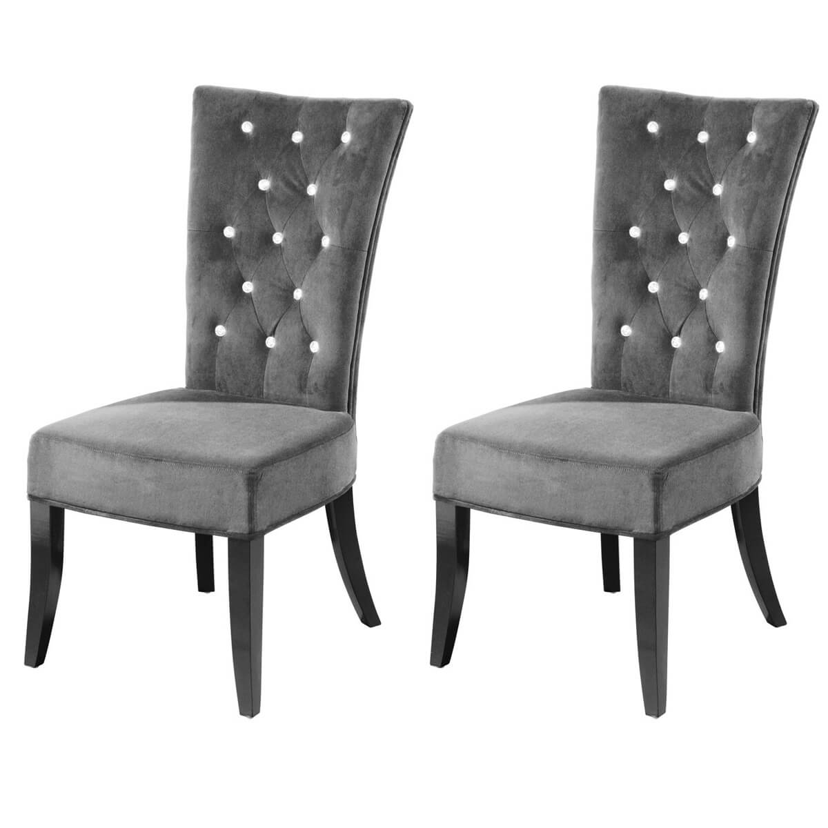 Grey Velvet Dining Chairs Radiance Grey Velvet Dining Chairs Diamante Buttoned Fads