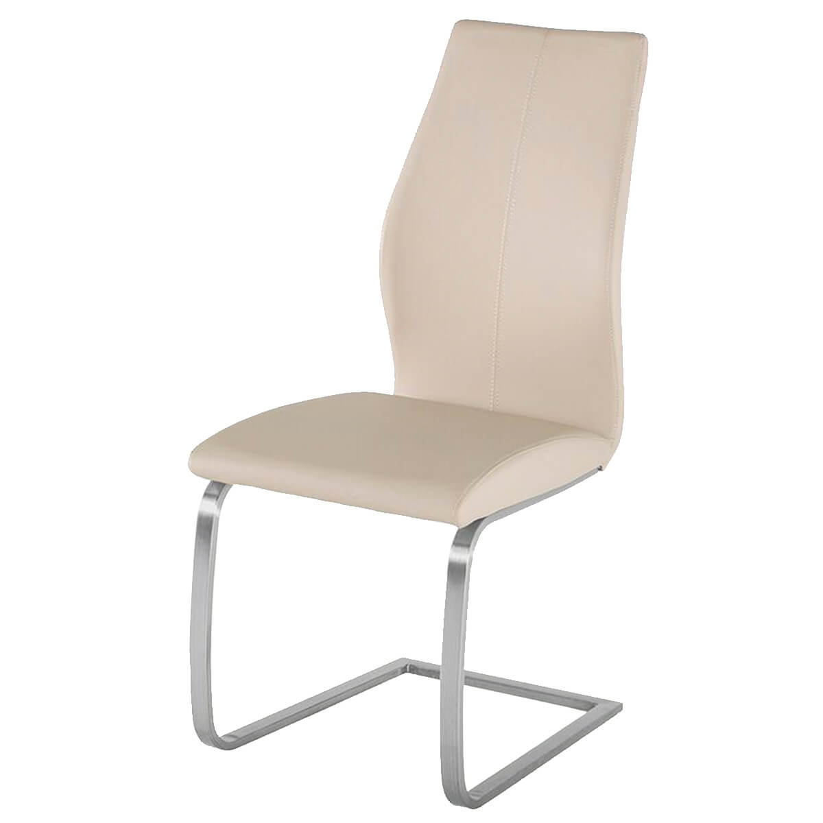 Taupe Dining Chairs Irma Multi Coloured Chairs Taupe Faux Leather Dining
