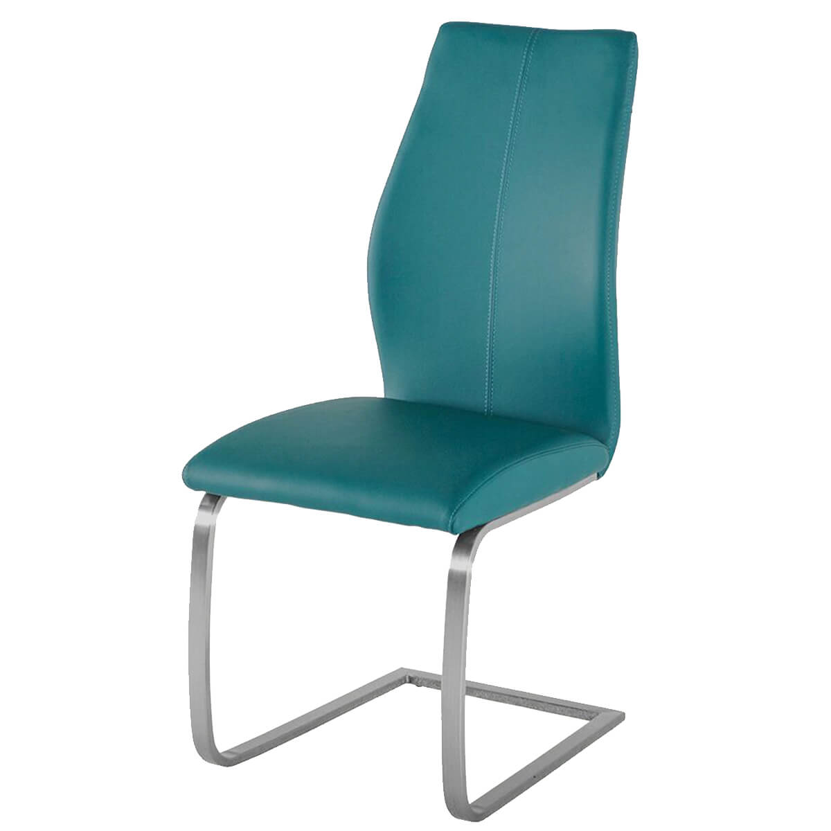 Teal Leather Chair Irma Multi Coloured Chairs Teal Faux Leather Dining Chairs