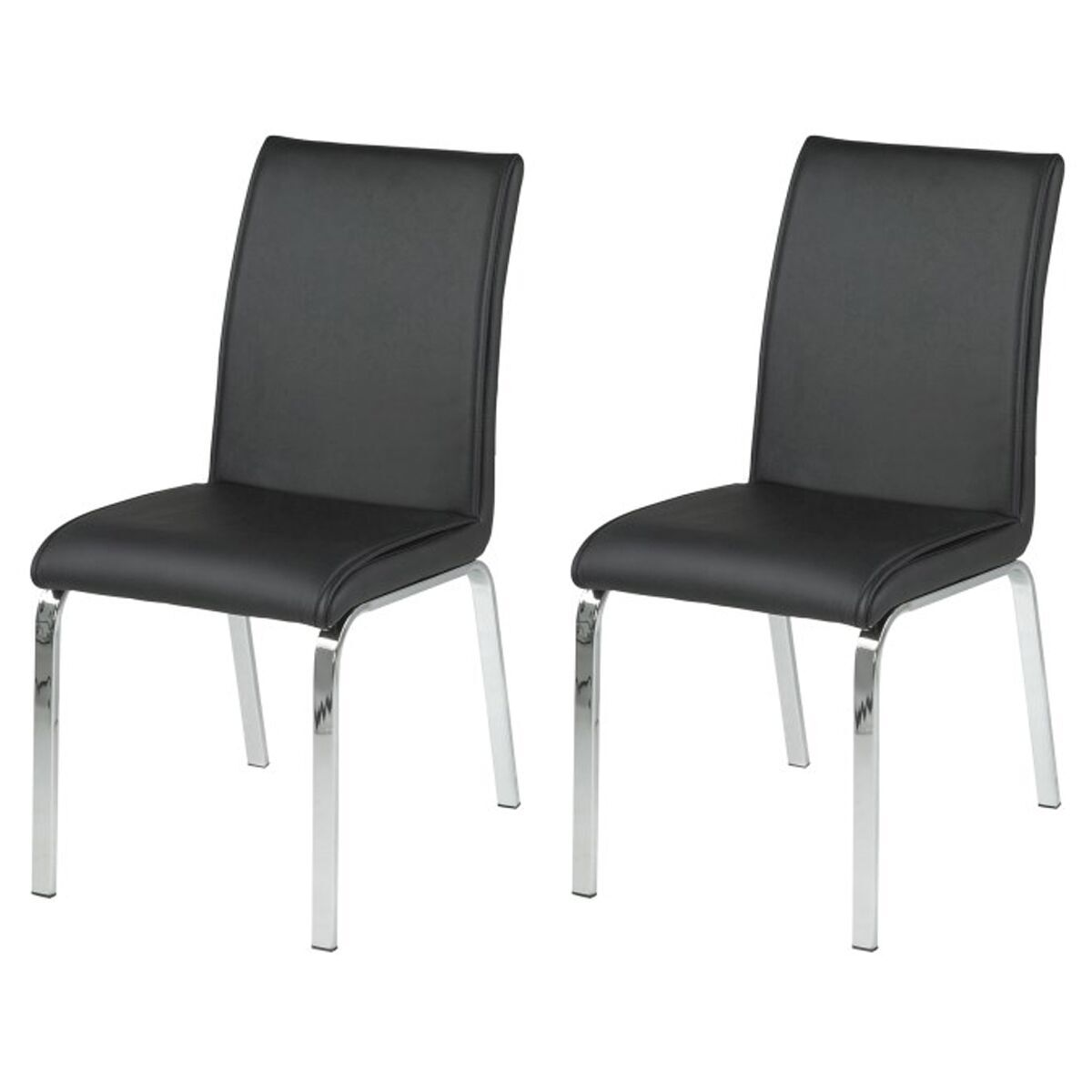 Black Leather Dining Chairs Leonora Black Faux Leather Dining Chairs Dining Chairs