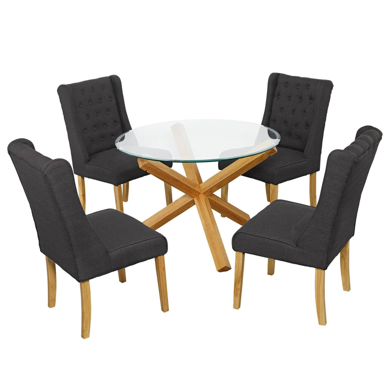 Glass Chair Grange Glass Dining Table And 4 Verona Chairs Fads