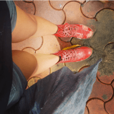 My favourite red doc martens torn and battered worn with shorts | Chai High is an Indian Fashion Blog started by Shivani Krishan