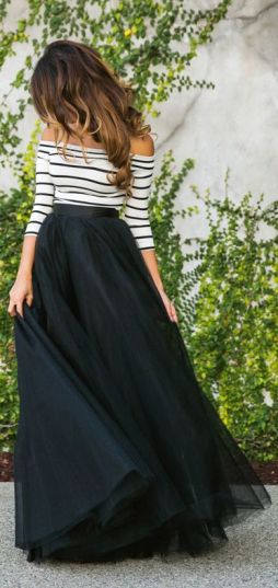 Feminine Tulle Skirt   Chai High is an Indian Fashion Blog started by Shivani Krishan