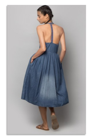 The Abba Pleated Halter Dress | Nicobar.com | Rs. 4800 | Dresses under 5000 | Chai High is an Indian Fashion Blog started by Shivani Krishan