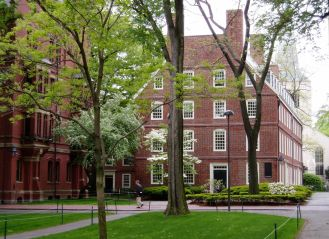Massachusetts Hall the oldest surviving building at Harvard University