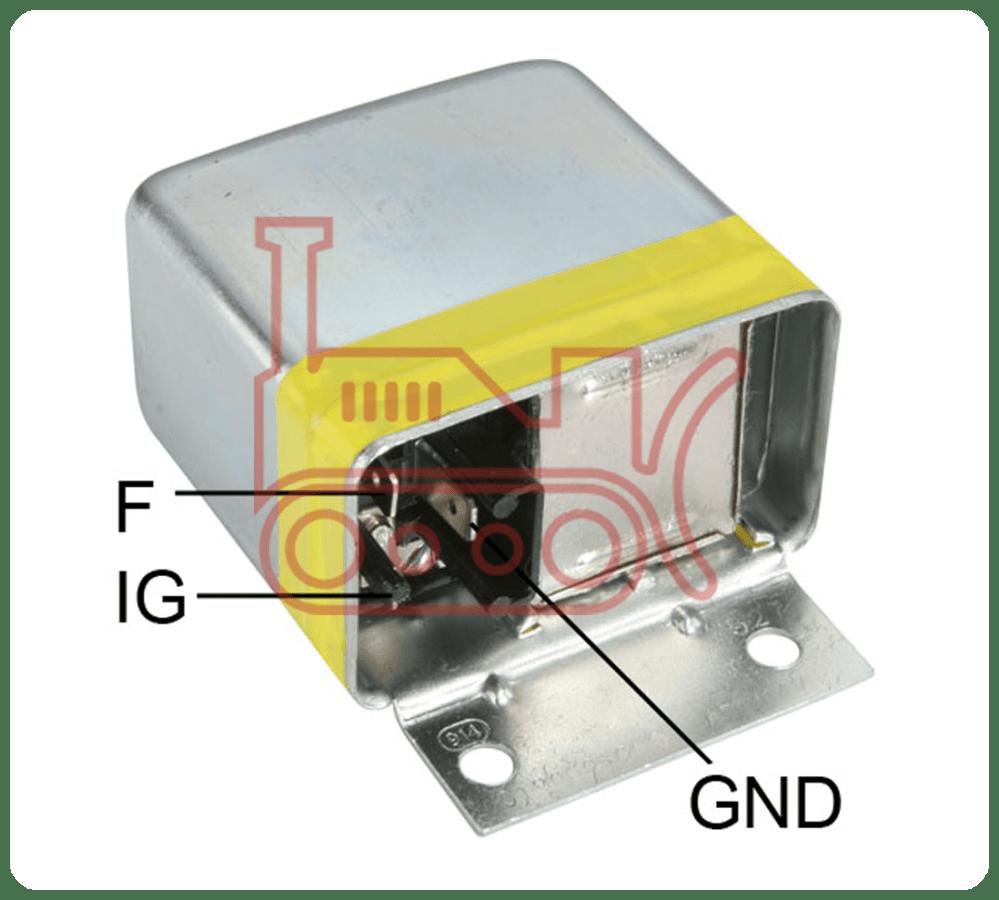 medium resolution of 020403110 regulator bosch 12v 3 pin body mount external