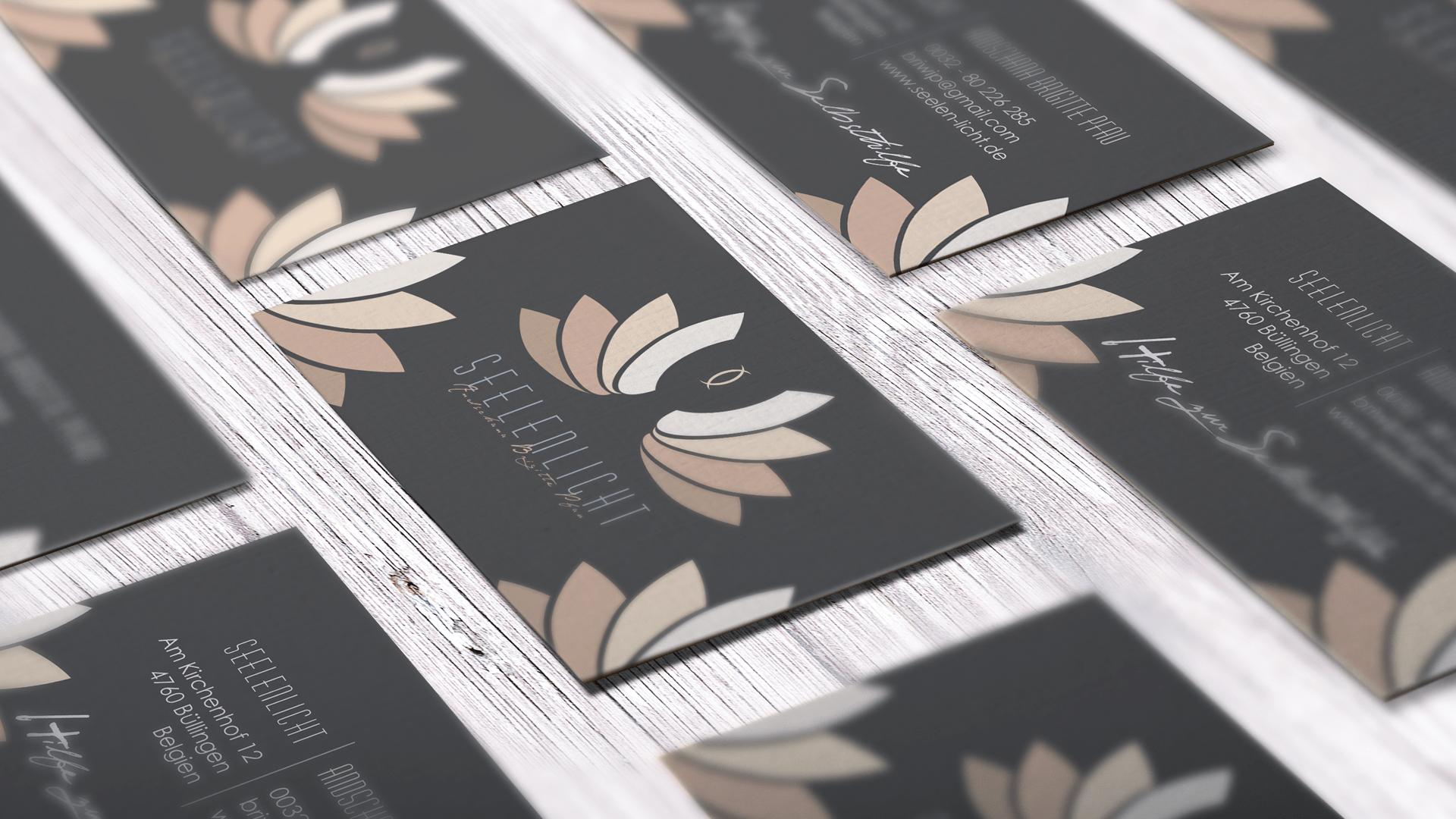 Visitenkarten, Print Seelenlicht