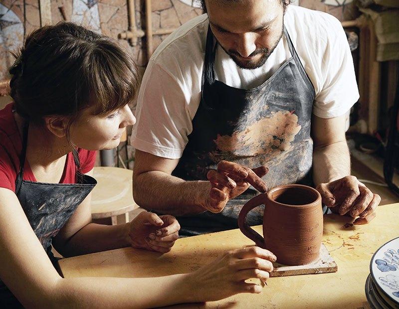 handmade, artisan, clay, cup, pottery