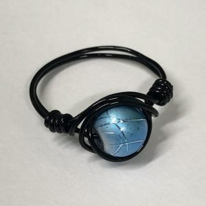Black and Blue Wire Ring