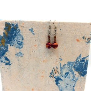 orange and brown earrings