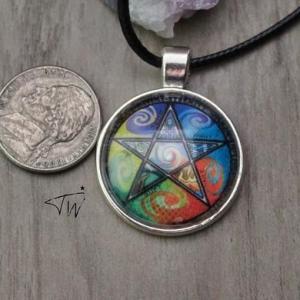 5 elements pentacle necklace