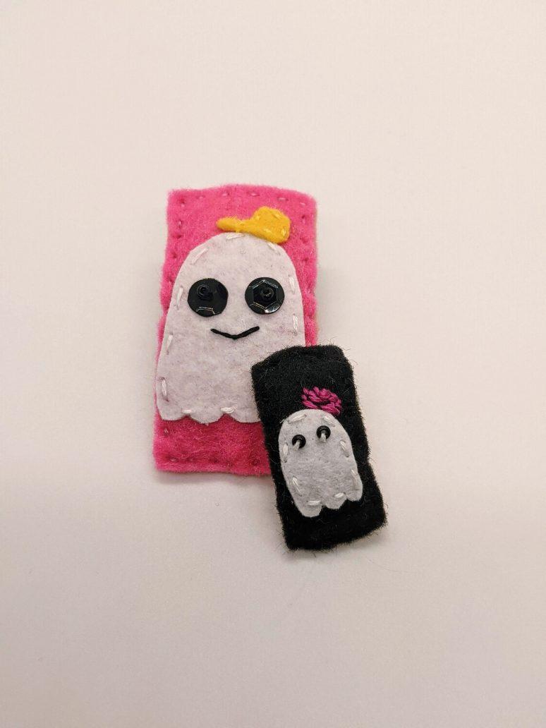 ghost barrette and mini barrette