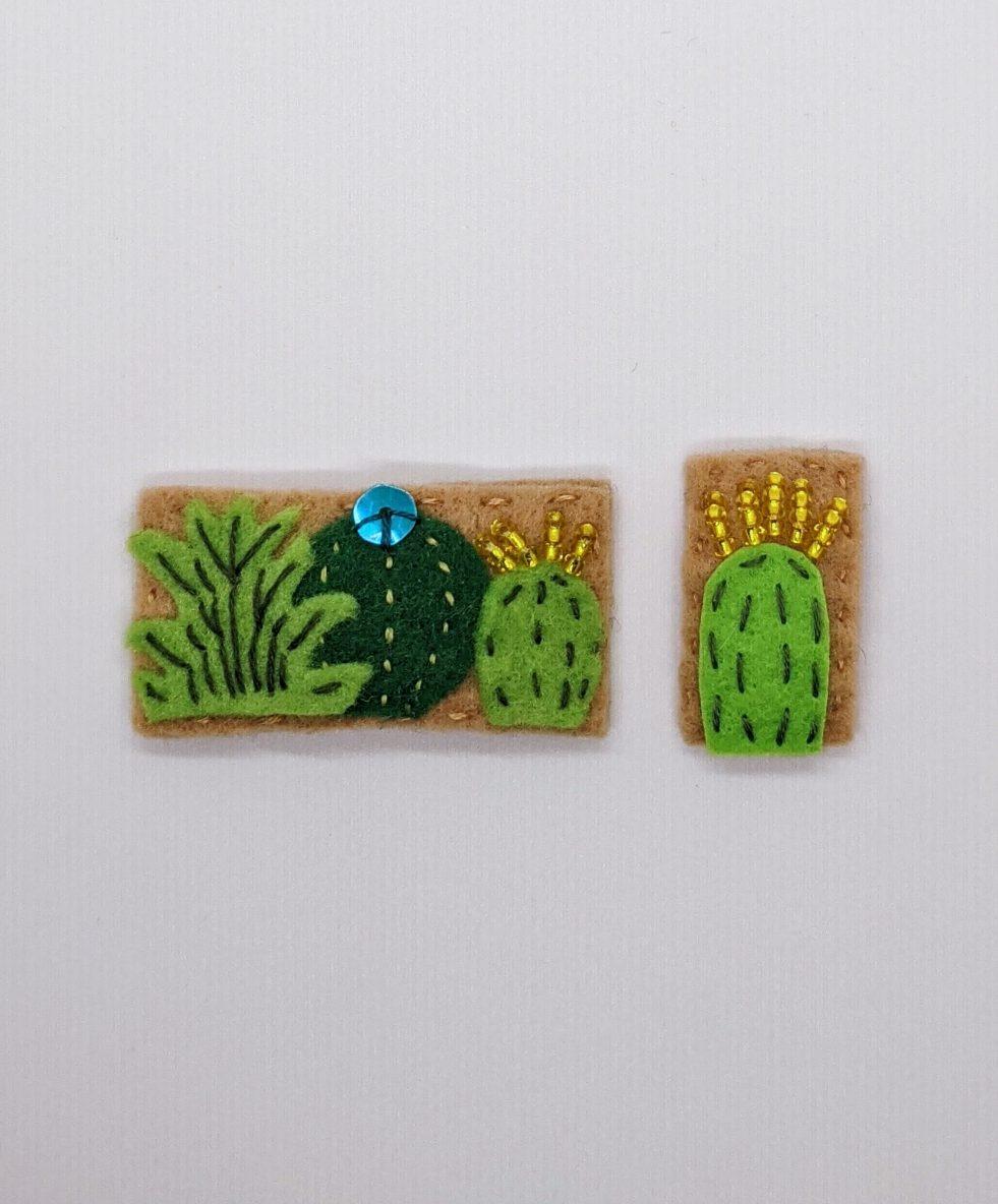 succulent barrette and mini succulent barrette