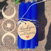 Blue Spell chime candle